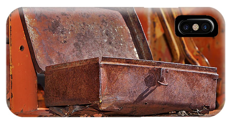 Toolbox IPhone X Case featuring the photograph A Rusy Toolbox by Phyllis Denton