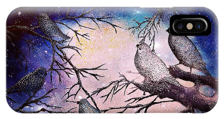 Landscape IPhone X Case featuring the painting A Special Moment by Milenka Delic