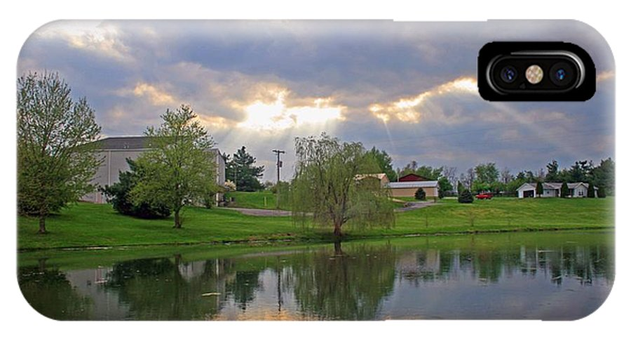 Water IPhone X Case featuring the photograph A Special Sunday At Church by Christopher Hignite
