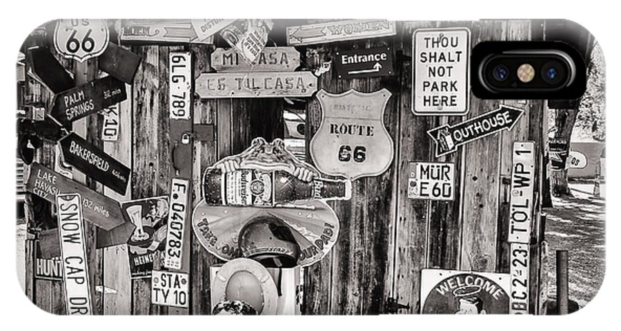 Signs IPhone X Case featuring the photograph A Stop Along Route 66 II by Diane Wood