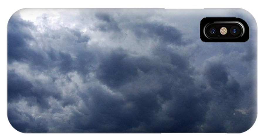 IPhone X Case featuring the photograph A Storm Rolls In From The West 5 by Peggy Miller