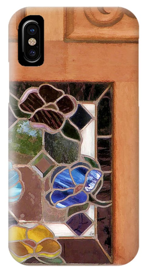 Stained Glass IPhone X Case featuring the photograph A Touch Of Glass by Diane Wood