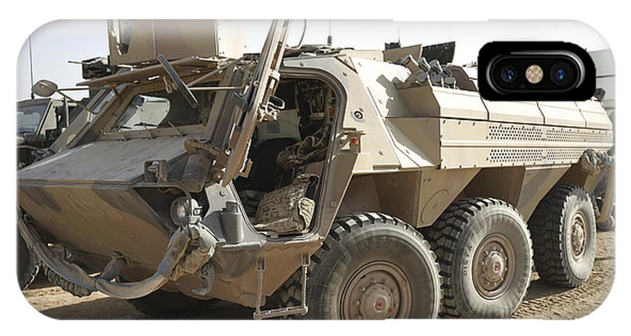 Isaf IPhone X Case featuring the photograph A Tpz Fuchs Armored Personnel Carrier by Terry Moore