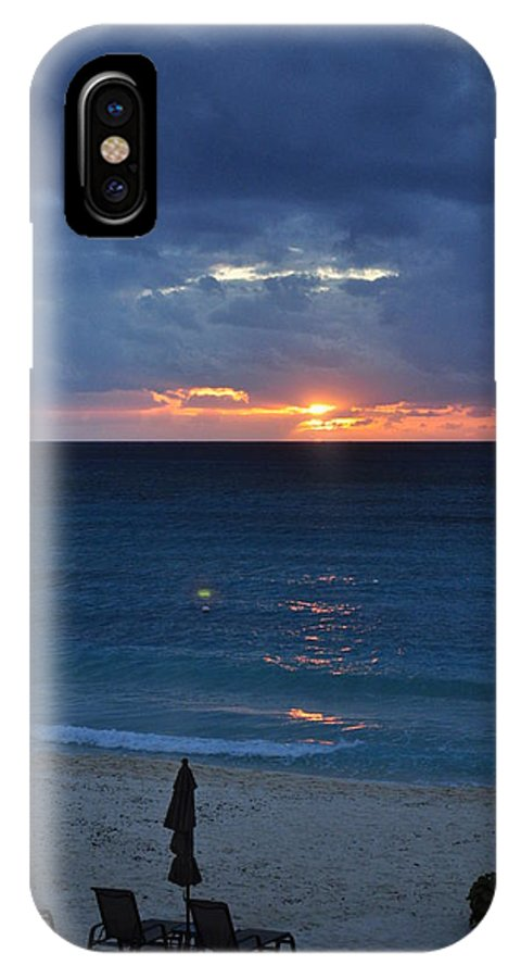 Carribbean IPhone X Case featuring the photograph A Walk At Sunset by Caroline Stella