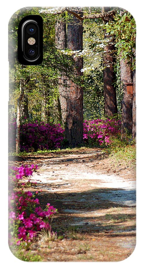Fine Art IPhone X Case featuring the photograph A Walk In The Springtime Woods by Suzanne Gaff