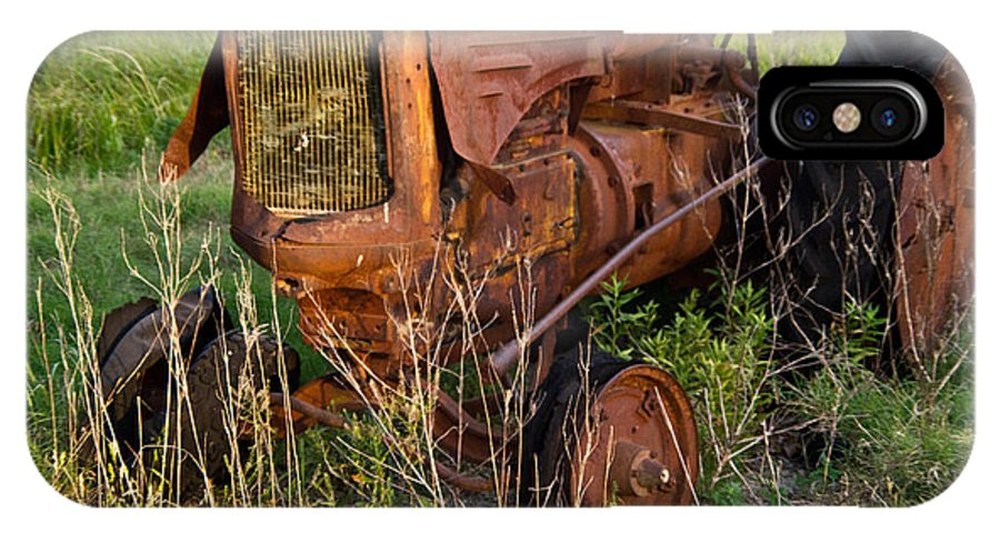 Tractor IPhone X Case featuring the photograph Abandonded Farm Tractor 1 by Douglas Barnett