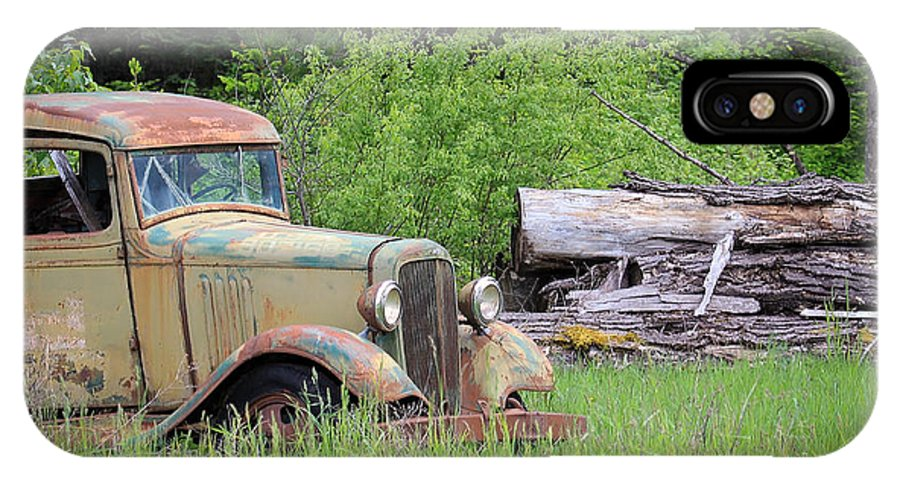 Abandoned Truck IPhone X Case featuring the photograph Abandoned by Steve McKinzie