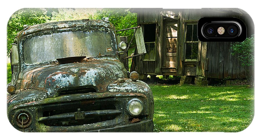 Truck IPhone X Case featuring the photograph Abandoned Truck At Post Office by Douglas Barnett