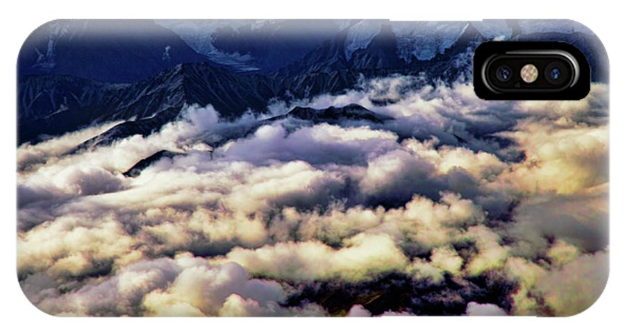 Denali National Park IPhone X Case featuring the photograph Above The Clouds by Rick Berk
