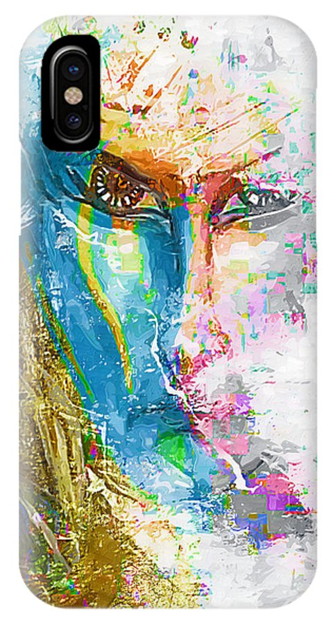 Graphics IPhone X Case featuring the digital art Abs 0063 by Marek Lutek