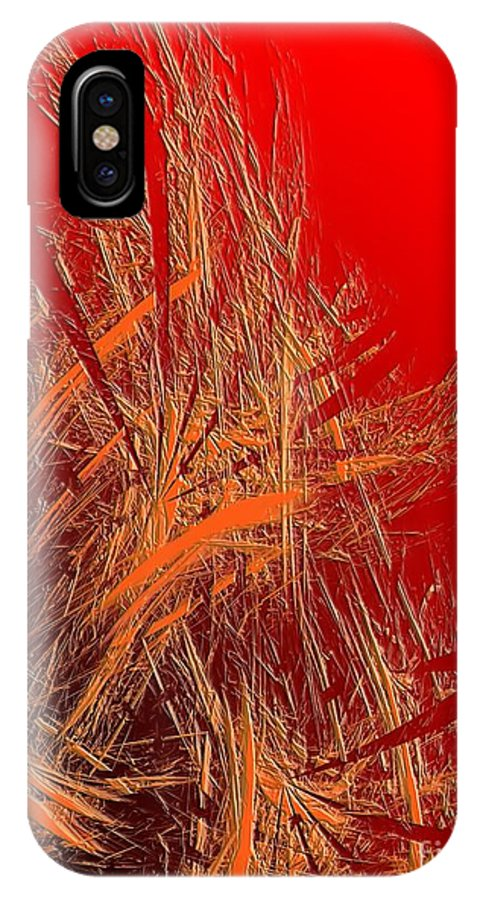 Graphics IPhone X Case featuring the digital art Abs 0095 by Marek Lutek