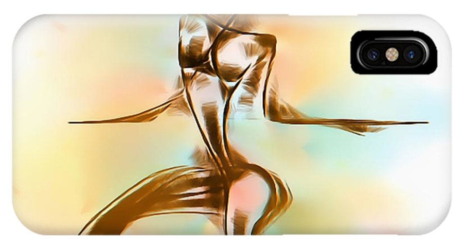 Graphics IPhone X Case featuring the digital art Abs 0099 by Marek Lutek
