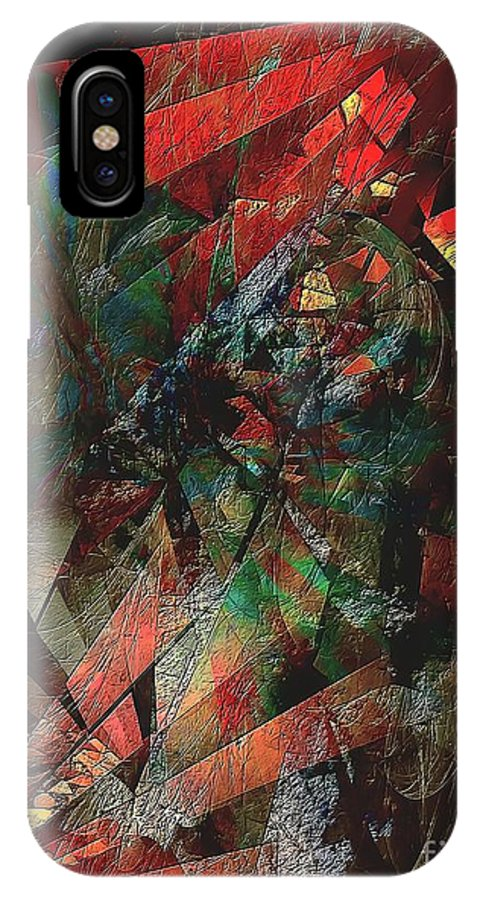 Graphics IPhone X Case featuring the digital art Abs 0568 by Marek Lutek