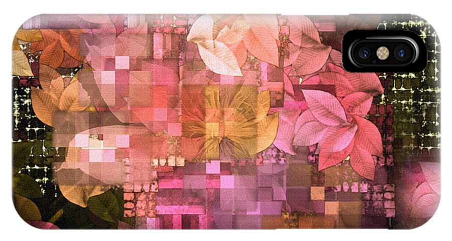 Trellis IPhone X Case featuring the digital art Abstract .. Trellis by Elaine Manley