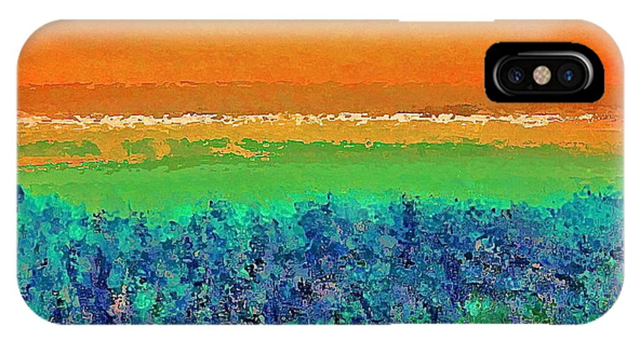 Abstract IPhone X Case featuring the photograph Abstract 133 by Pamela Cooper