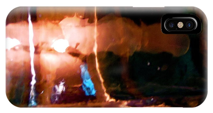 Orange IPhone X Case featuring the photograph Abstract 1683 by Stephanie Moore