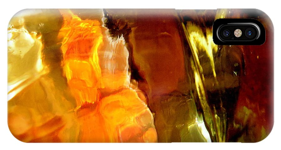Orange IPhone X Case featuring the photograph Abstract 1690 by Stephanie Moore