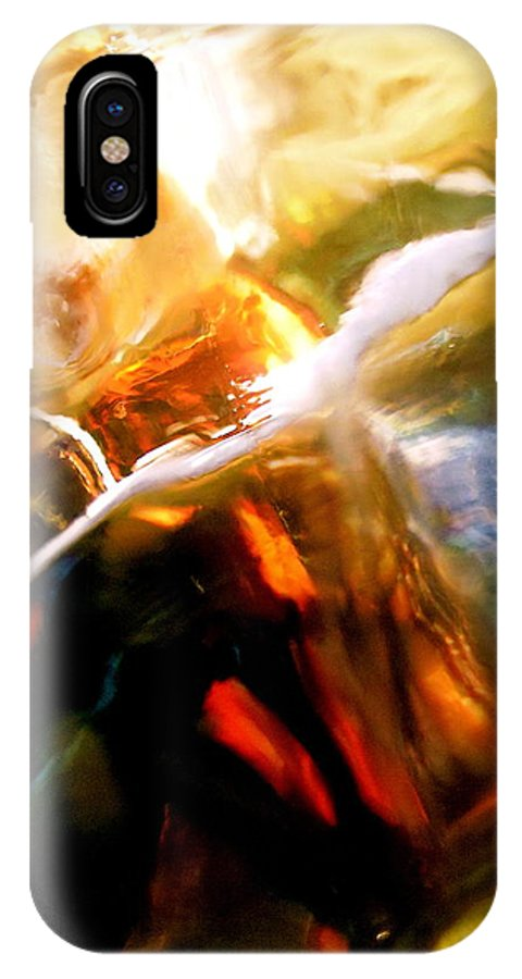 Yellow IPhone X Case featuring the photograph Abstract 1692 by Stephanie Moore