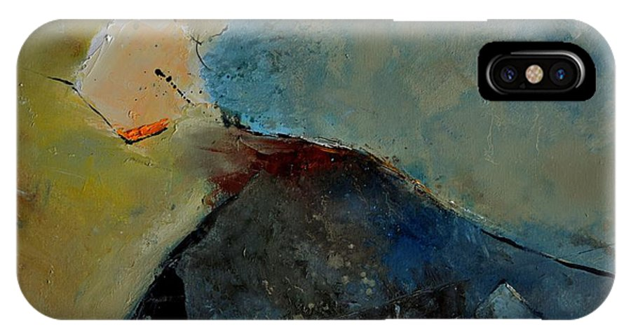 Abstract IPhone X / XS Case featuring the painting Abstract 170006 by Pol Ledent