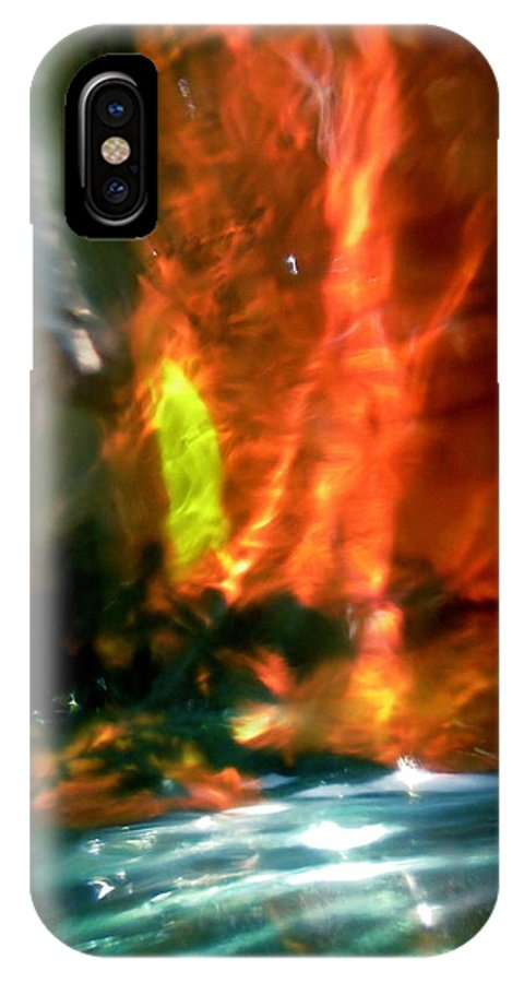 Blue IPhone X Case featuring the photograph Abstract 1709 by Stephanie Moore