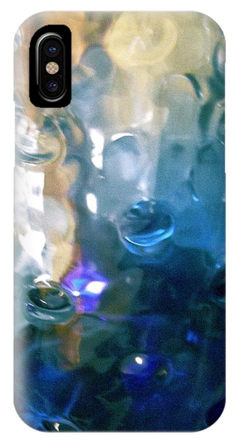 Green IPhone X Case featuring the photograph Abstract 1725 by Stephanie Moore