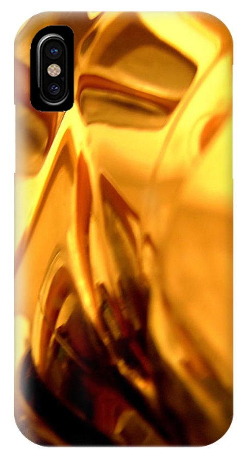 Yellow IPhone X Case featuring the photograph Abstract 1727 by Stephanie Moore