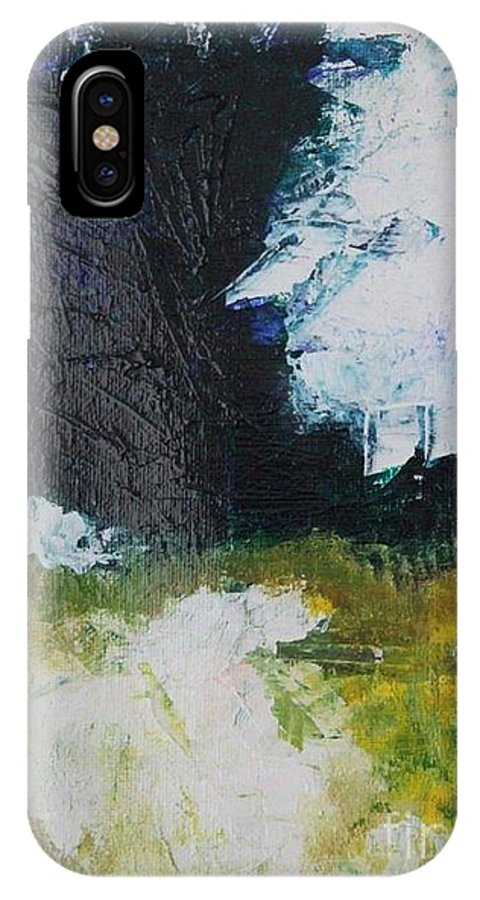 Abstract IPhone X Case featuring the painting Abstract 2 by Mantra Y