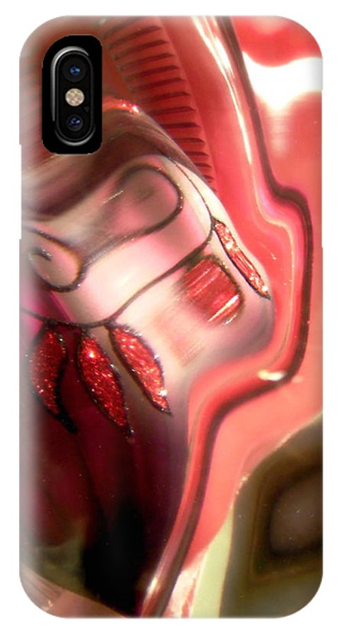 Pink IPhone X Case featuring the photograph Abstract 2089 by Stephanie Moore