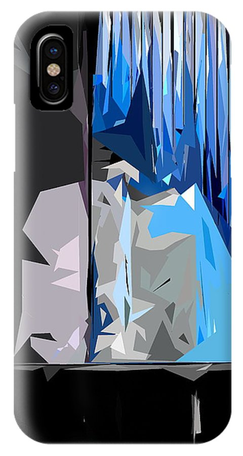 Abstract IPhone X / XS Case featuring the photograph Abstract 23 by Burney Lieberman