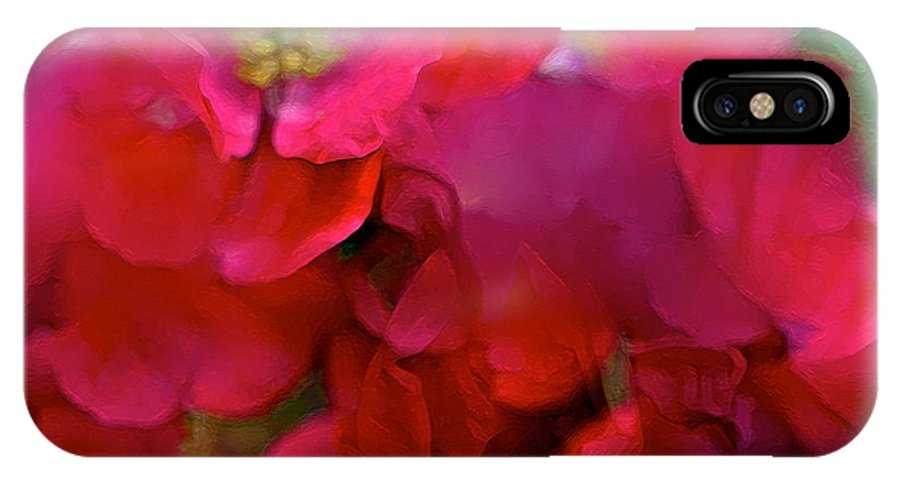 Abstract IPhone X Case featuring the photograph Abstract 277 by Pamela Cooper
