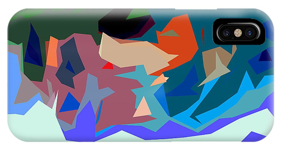 Abstract IPhone X / XS Case featuring the photograph Abstract 28 by Burney Lieberman