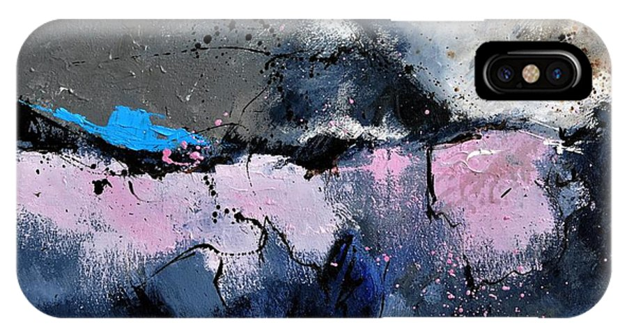 Abstract IPhone X Case featuring the painting Abstract 6621801 by Pol Ledent