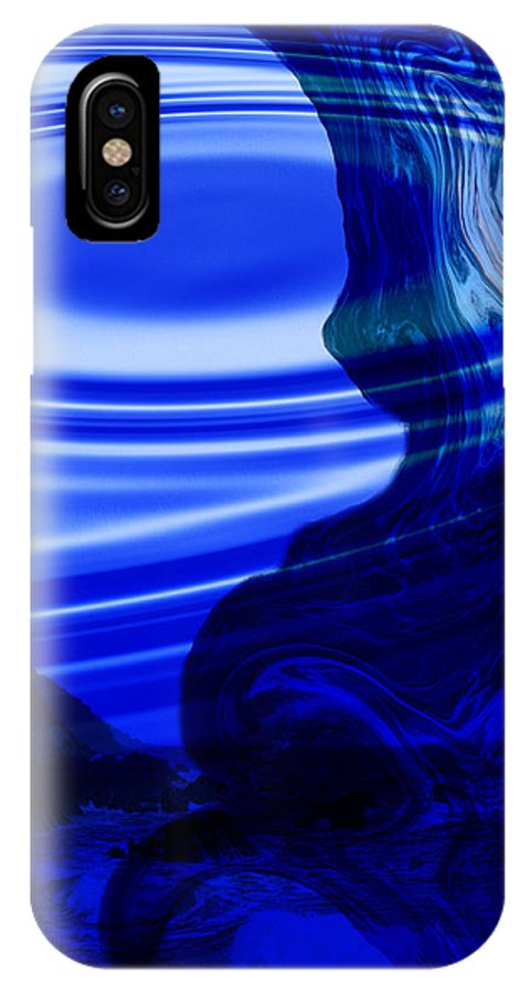 Digital Art IPhone X / XS Case featuring the photograph Abstract Blue Sea 2 by Angel Jesus De la Fuente