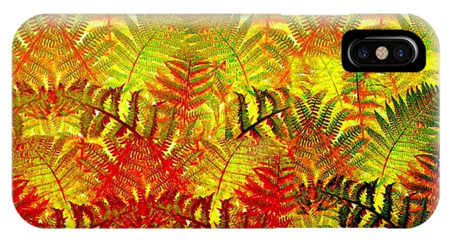 Abstract Fusion IPhone X Case featuring the digital art Abstract Fusion 23 by Will Borden