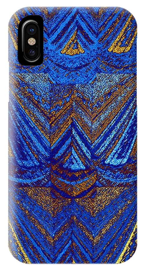 Abstract Fusion IPhone X Case featuring the digital art Abstract Fusion 59 by Will Borden