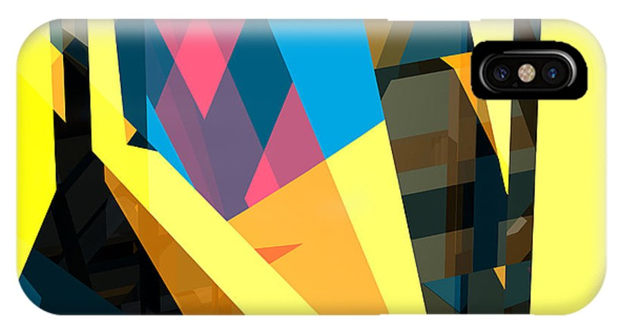 Abstract IPhone X Case featuring the digital art Abstract Sine L 16 by Russell Kightley
