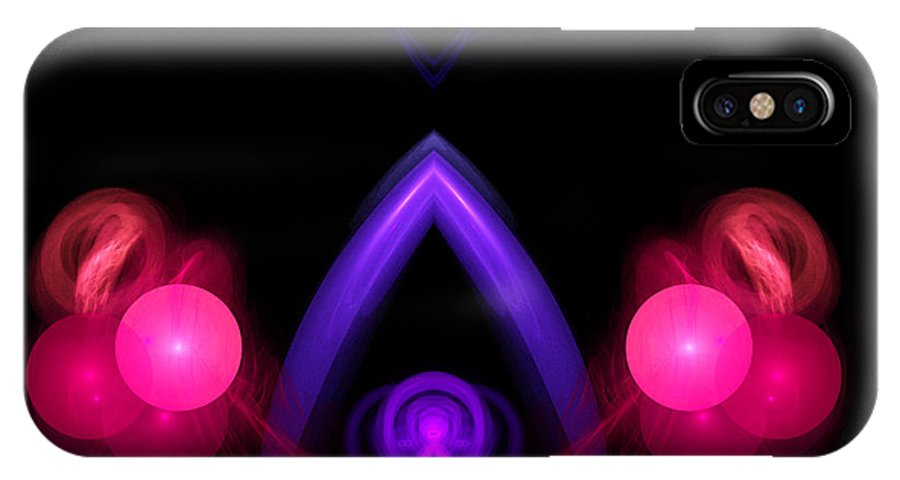 Fractal Digital Art IPhone X Case featuring the photograph Abstract Twenty by Mike Nellums