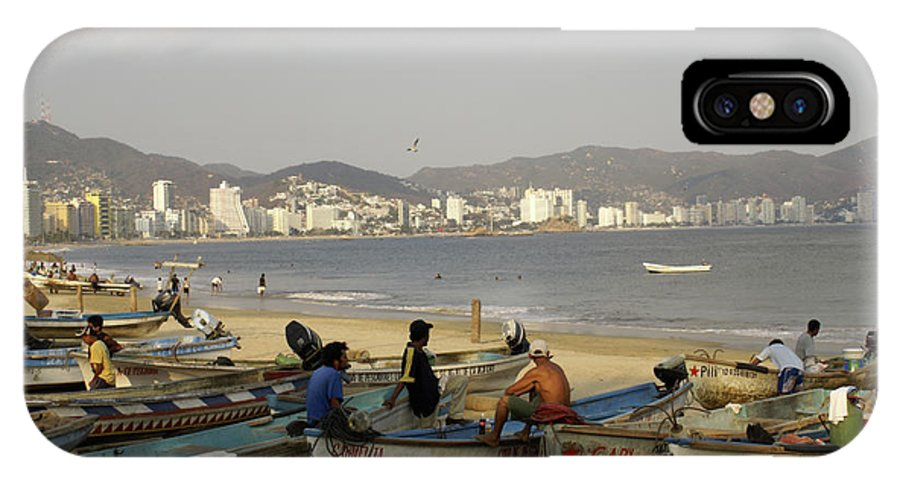 Mexico IPhone X Case featuring the photograph Acapulco Fishermen by John Mitchell