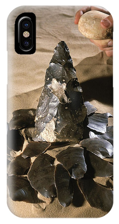 Rock IPhone X / XS Case featuring the photograph Acheulean Stone Tool by Javier Truebamsf