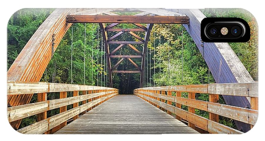 Bridge IPhone X Case featuring the photograph Across The Bridge by Tyra OBryant