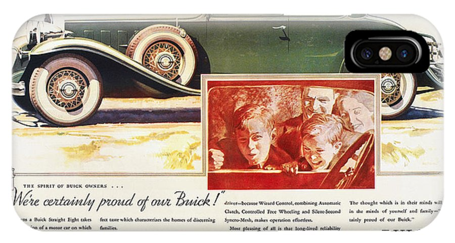 1932 IPhone X Case featuring the photograph Ads: Buick, 1932 by Granger