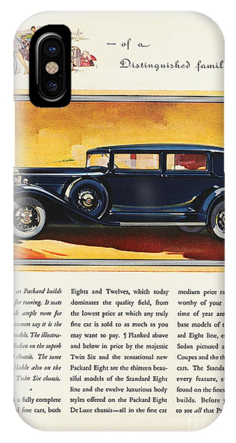 1932 IPhone X Case featuring the photograph Ads: Packard, 1932 by Granger