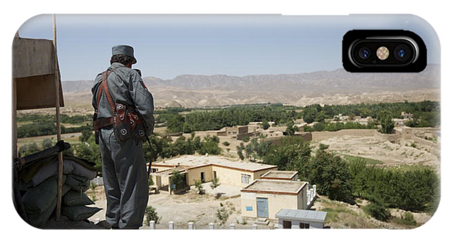 Afghanistan IPhone X Case featuring the photograph Afghan Policeman Standing by Terry Moore