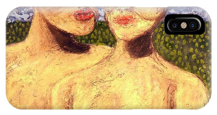 � IPhone X / XS Case featuring the painting After The Kiss by JC Armbruster