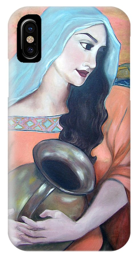 Woman IPhone X Case featuring the painting Agua Del Pozo by Veronica Zimmerman