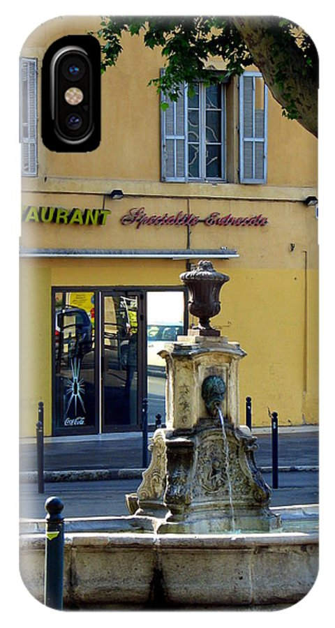 Fountain IPhone X Case featuring the photograph Aix En Provence Fountain by Carla Parris