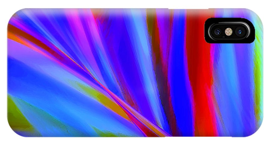Abstract IPhone X Case featuring the digital art Akimbo by ME Kozdron