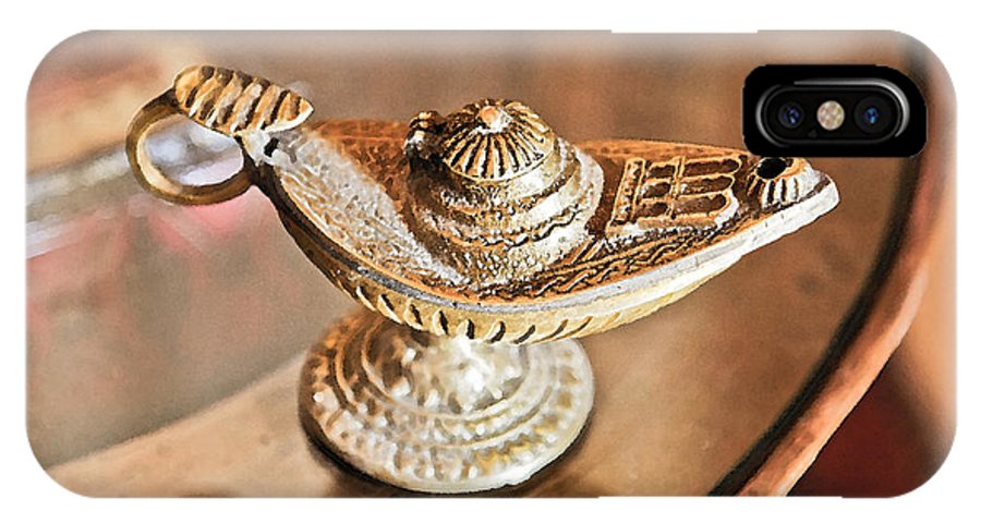 Interesting IPhone X Case featuring the photograph Aladdin Genie Lamp by Kantilal Patel
