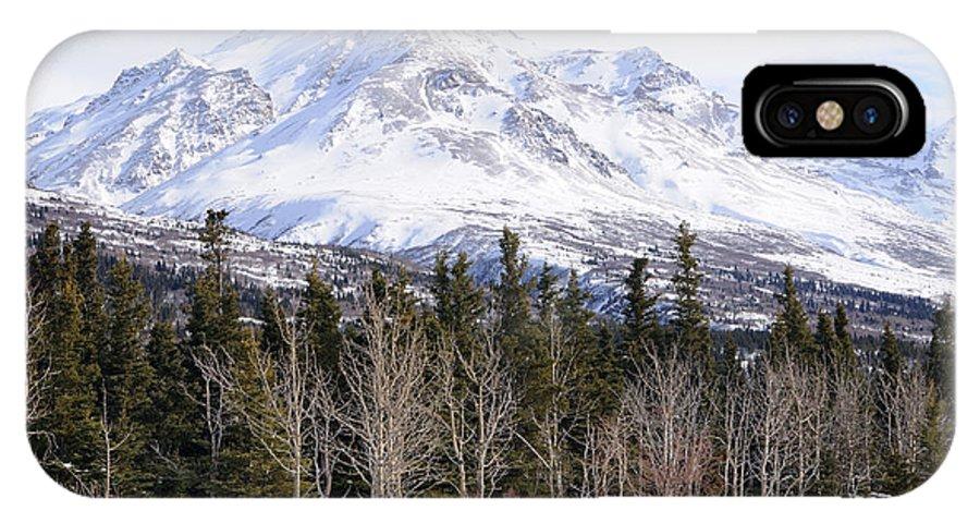 Mountain IPhone X Case featuring the photograph Alaska Range Peak by Gary Whitton