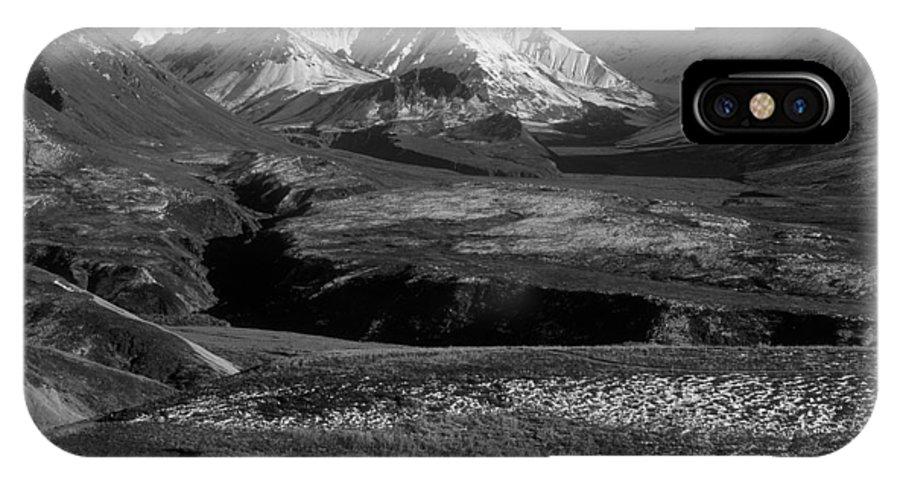 Alaska IPhone X Case featuring the photograph Alaska Valley by Sandra Bronstein